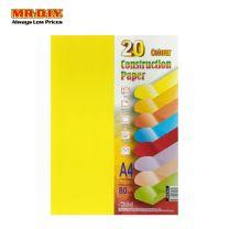 STANDARD 20 Colour A4 Construction Paper FTC-8100 (100's)
