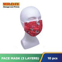 MR.DIY Festive Disposable 3-Layer Filter Colour Face Mask (10pcs)