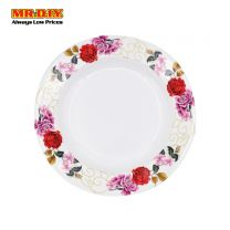 "MR.DIY Premium Rose Flower Pattern Melamine Dinner Plate (10"")"