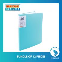 CHANYI Clear 20 Pages A4 Document File Folder