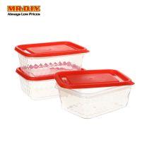 DUORO Plastic Diamond Shine Airtight Food Container 30-31 (3pcs)