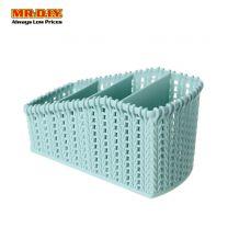 Plastic Weave Pattern Storage Basket