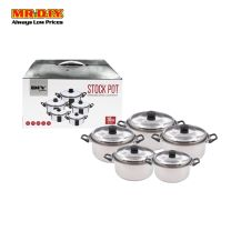 MR.DIY Premium Stainless Steel Stock Pot Set (5pcs)
