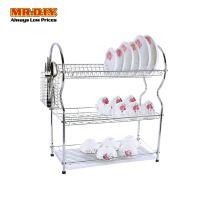 MR.DIY Stainless-Steel 3-Layer Tier Dish Drainer Rack