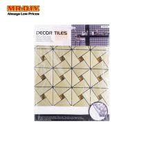 JUMEIYA Self Adhesive Triangle Crystal Glass Mosaic Aluminium Tile Backsplash Wallpaper