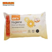 MR.DIY Antibacterial Hygiene Hand Cleansing Wipes (60 sheets) Chamomile Yellow