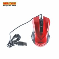 WEIBO Red Colour Gaming Optical Mouse