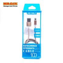 MR.DIY Metallic Braided iPhone USB Data Cable (100cm)