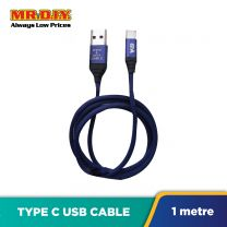 WB Fashion Braided Heavy Duty Type-C USB 3.1A Fast Charge Data Cable LS-K367 (1m)