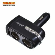 CARSUN Single USB and Two Cigarette Lighter Socket Car Charger