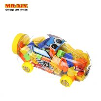 Number 16 Racing Car Container with Wheels Building Blocks Set