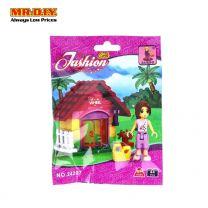 AUSINI Fashion Girls Wheel House Block Set (44 pcs)