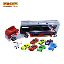 PONG RONG Transport Cars Carrier Truck Toys Set (9 pcs)