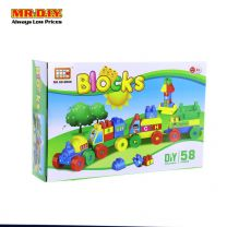 HC Train Education Blocks Toy Set (58 pcs)