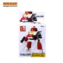 SLUBAN Red Colour Robot Blocks Toy Model