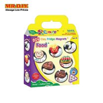 CRAZYCLAY DIY Multi-Colour Foods Shape Clay Fridge Magnets Playset