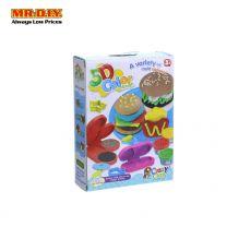 CRAZY CLAY 5D Color Clay Burger Play Set