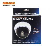 Dummy Dome Camera with LED Flashing Light White