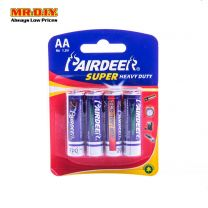 PAIRDEER Super Heavy Duty Carbon Battery AA (4pcs)