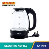 MR.DIY Premium Glass Electric Kettle (1.7L)