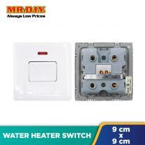 MR.DIY Premium 20A 1 Gang 1 Way SP Switch Water Heater (9cm x 9cm)