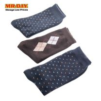MR.DIY Fashion Long Men's Sock (3 pairs)