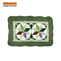 MR.DIY Flower Rectangular Floor Mat (70cm)