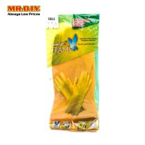 FRAMS Natural Latex Rubber Gloves Yellow