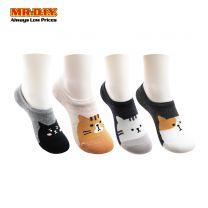 JUNJIESHUAI Toe Ladies Sock Cute Cat