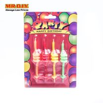 Party Candles for Birthdays in 4 Colors (4pcs)