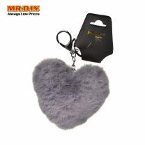 MR.DIY Fluffy Heart Keychain