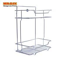 MR.DIY Wall-Mounted Stainless-Steel 2-Layer Bathroom Rack (29cm x 35cm)