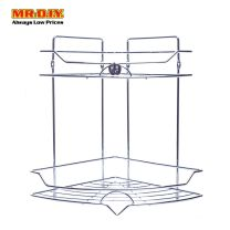 2-Layers Stainless Steel Storage Rack for Bathroom