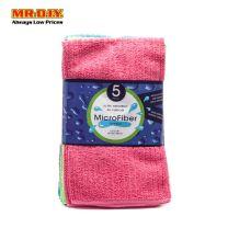 MR.DIY Microfiber Multi-Colour Square Towels (5pcs)