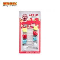 APPLE Animals Plastic Cap Pin (6pcs)