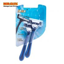 MAX Triple Blade Disposable Shavers (2pc)