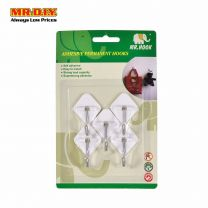 MR HOOK Adhesive Permanent Plastic Hook HS06