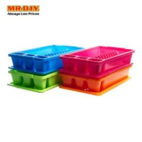 Plastic Dish Holder with Drain Board and Utensil Cup