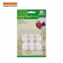 MR HOOK Wall-Mounted Plastic Adhesive Hooks (6pcs)