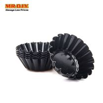 TARTLET Non-stick Carbon Steel Mini Flower Tart Mould A013R (6pcs)