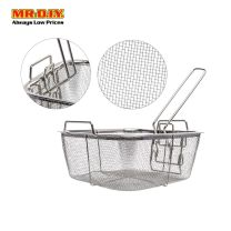 MR.DIY Stainless-Steel Square Fry Strainer Basket with Handle (20cm x 20cm)