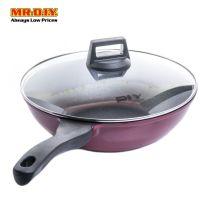 MR.DIY Premium Non-Stick Wok Pan with Glass Lid (30cm)