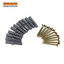 MR.DIY Screw And Wall Plug Fixing Pack G617 (10 pcs)