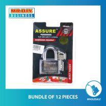 ASSURE Heavy-Duty Chrome Plated Brass Padlock (50mm)