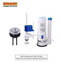 AGASS Replacement Toilet Fill Valve Water Drain Flush Valve Dual Button Kits (50mm)
