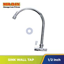 AGASS Stainless-Steel Sink Wall Tap (22cm x 2cm)