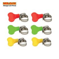 JINFENG Adjustable Screw Multi-size Hose Clamp (6pcs)