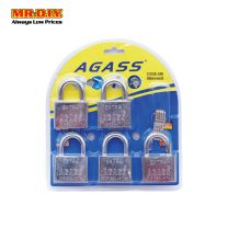 AGASS Safety Extra Chrome Plated Brass Padlock (5pcs x 50mm)