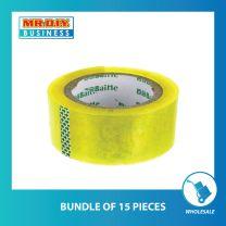 BAINE Transparent Bopp Tape (48mm X 20y) (bundle of 15 pack)