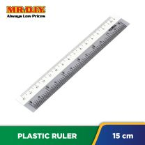 MR.DIY Dual-Colour Plastic Ruler (15cm)